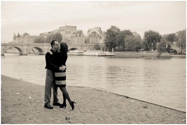 on banks of River Seine Paris