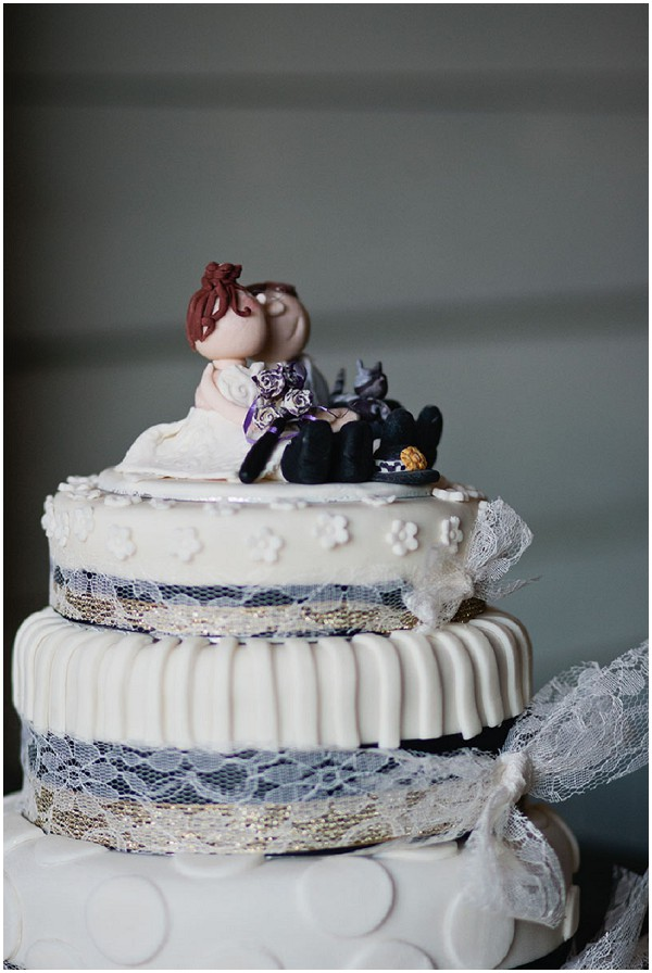 personalised french wedding cake