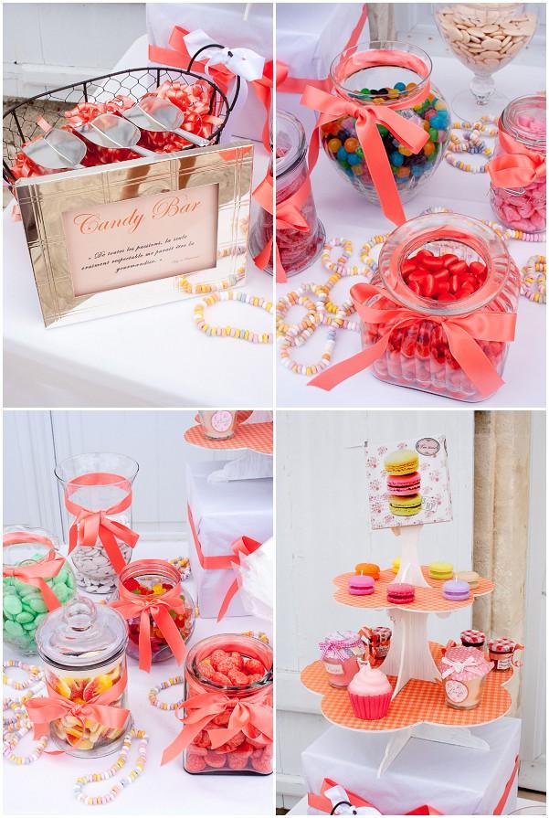 pink wedding sweets bar
