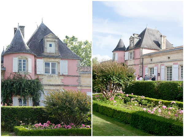 pink wedding chateau