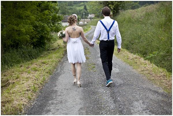 unique wedding couple
