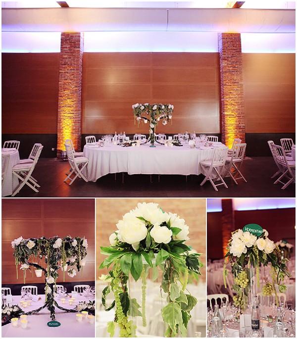 white wedding blooms