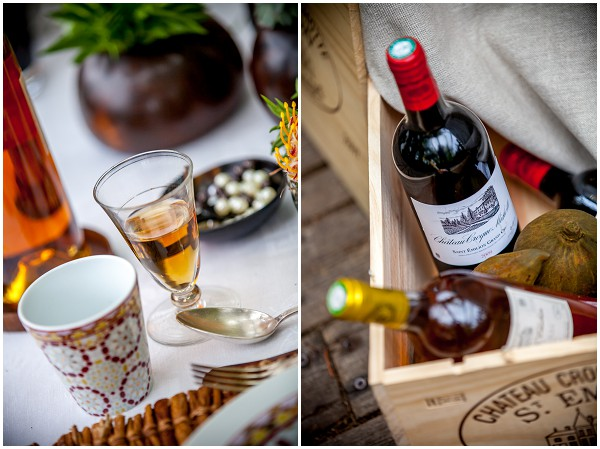 French wedding wine brandy