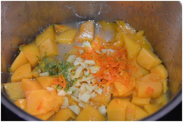 Mango ginger purée