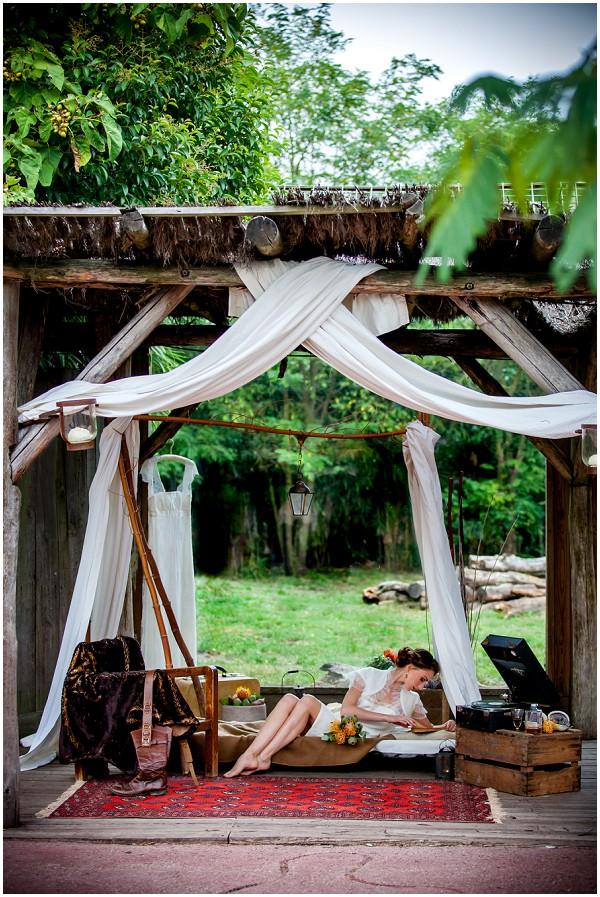 africa wedding set up