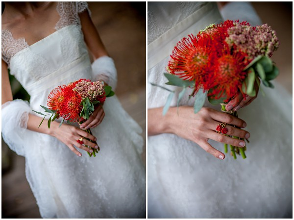 african themed bridal bouquet