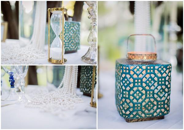 blue white wedding theme