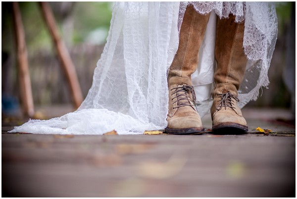 brown bridal boots