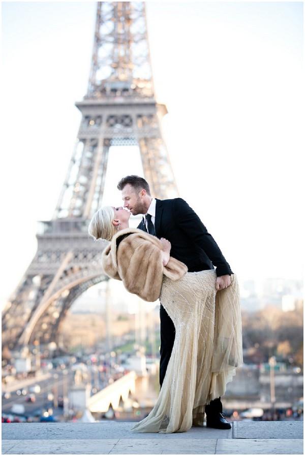 glamorous elopement Paris
