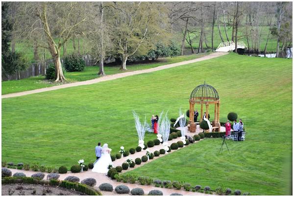 intimate chateau wedding