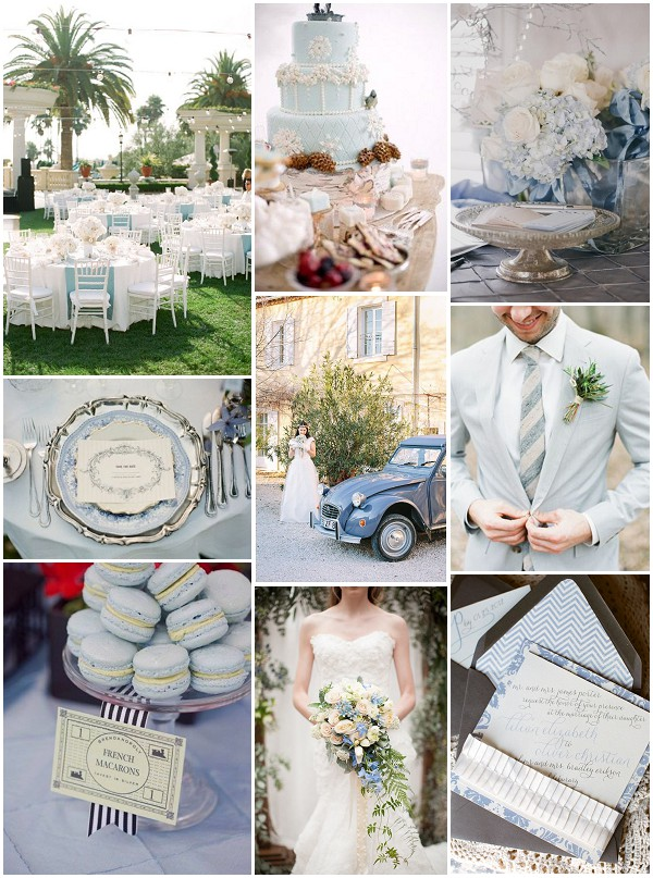 Pastel Blue Wedding Theme French Wedding Style