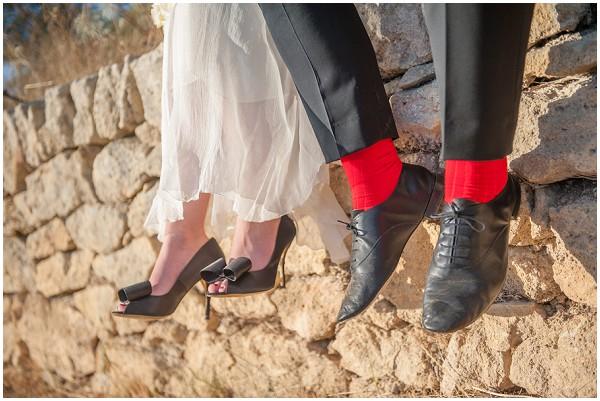 red groom socks