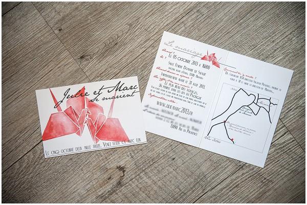 red hand drawn invitations