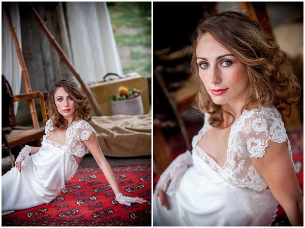 relaxed bridal hair makeup