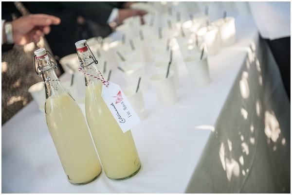 rustic wedding lemonade