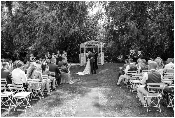 wedding ceremony in gardens