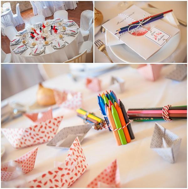 wedding origami wedding table