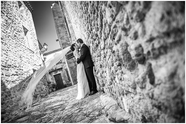 wedding veil in wind