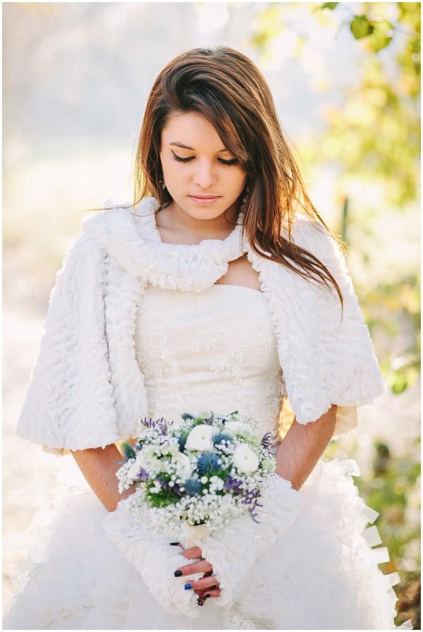 winter bride france
