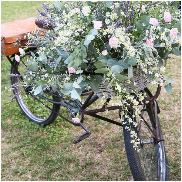 bike full flowers