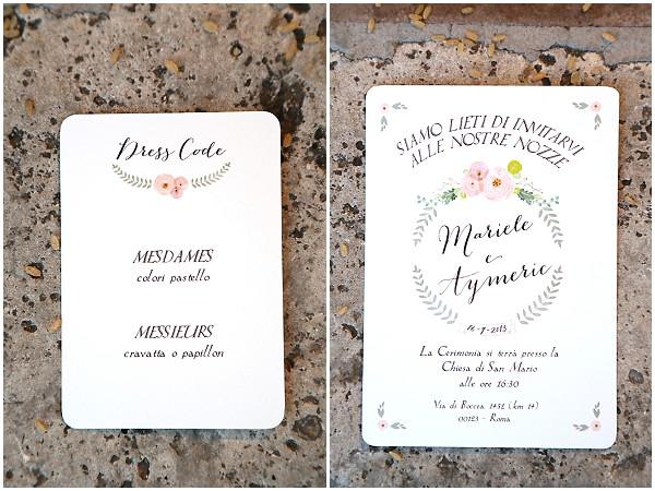 pretty wedding stationery