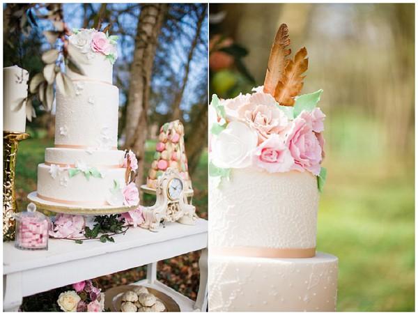 styled photo shoot wedding cake