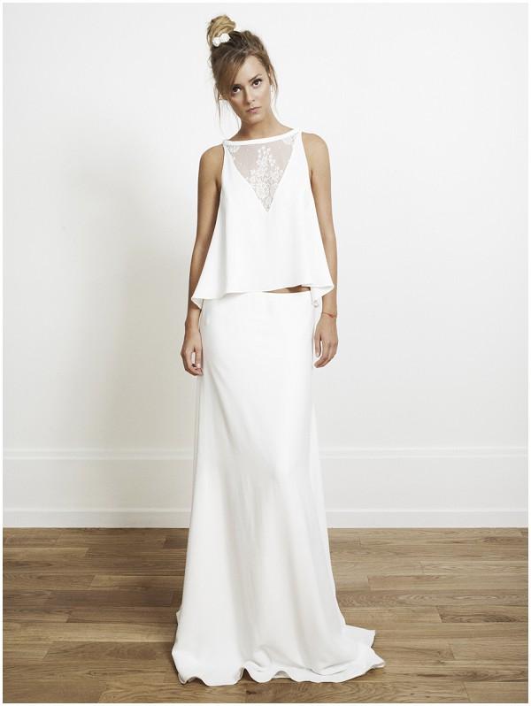 twopiece wedding dress