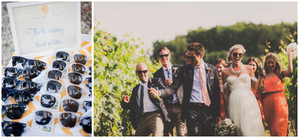 Summer wedding favours-sunglasses