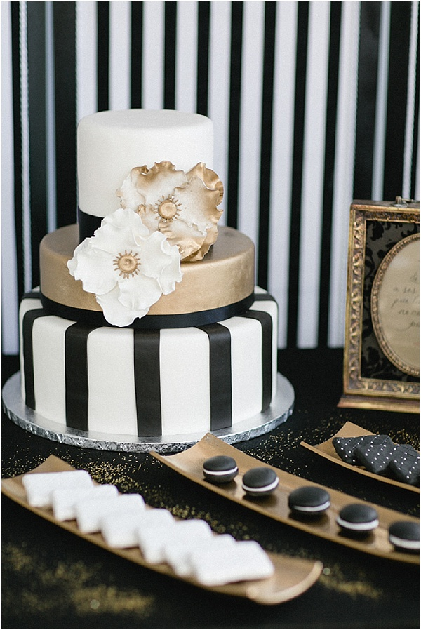 black and gold wedding cake table opulent black and gold wedding ideas with a pop of pink 11814