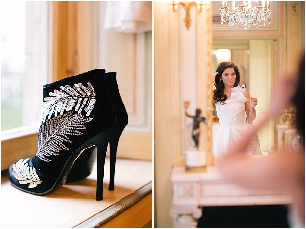 black bridal boots