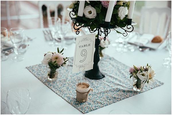 diy wedding tablecentre