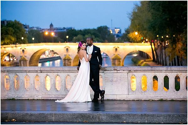 evening wedding In paris