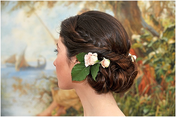 intricate bridal hair