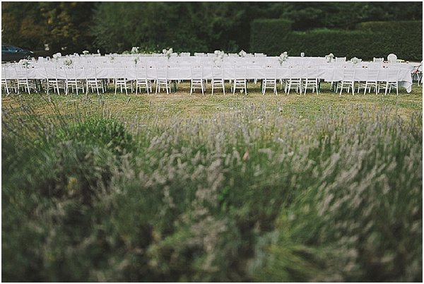 outside wedding reception