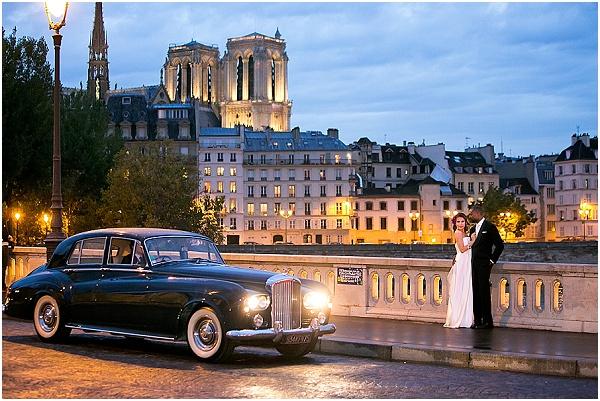 paris wedding at night
