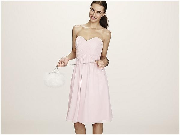 rose pink bridesmaid dress