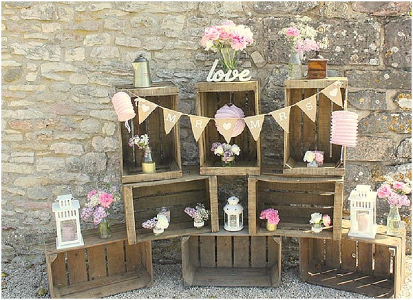 shabby chic wedding display