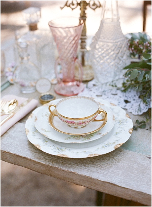 vintage french tablesetting