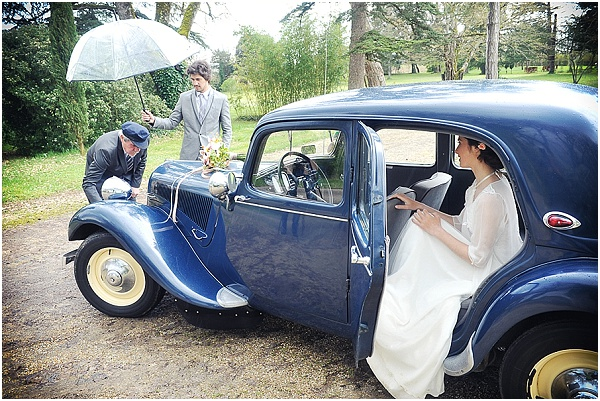 vintage wedding car France