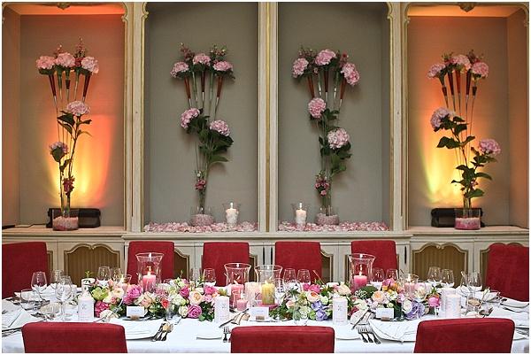 chateau wedding setup