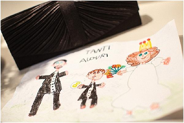 hand drawn childs wedding invite