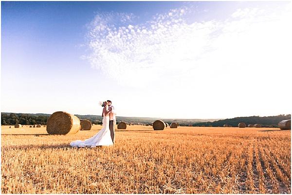 corn field wedding