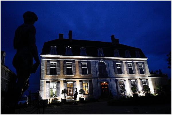 evening wedding reception chateau