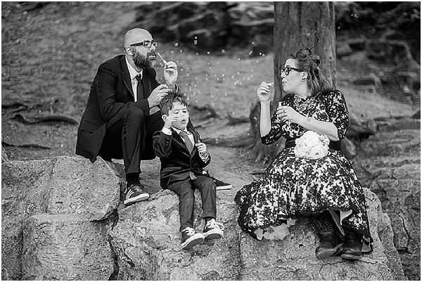 family centred wedding