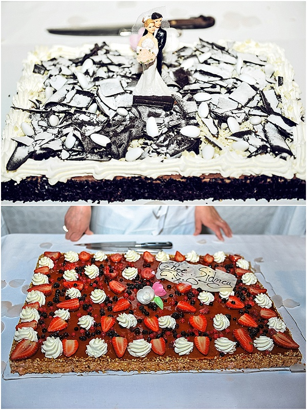 flat wedding cakes
