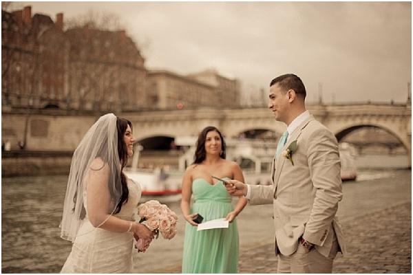 Friend as wedding officiant