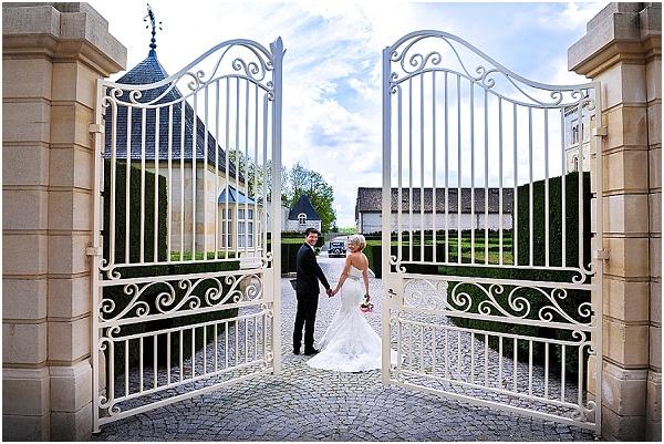 gates wedding chateau