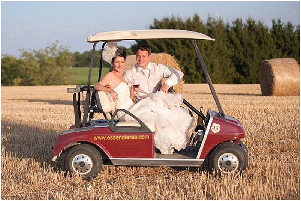 go cart wedding