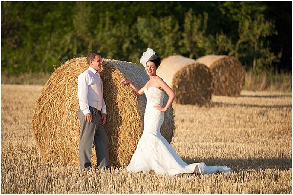 haybale wedding