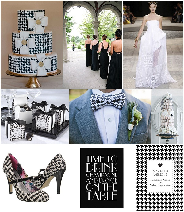 houndstooth wedding ideas